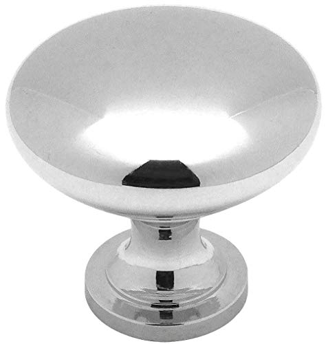 25 Pack - Cosmas 5305CH Polished Chrome Traditional Round Solid Cabinet Hardware Knob - 1-1/4 Diameter