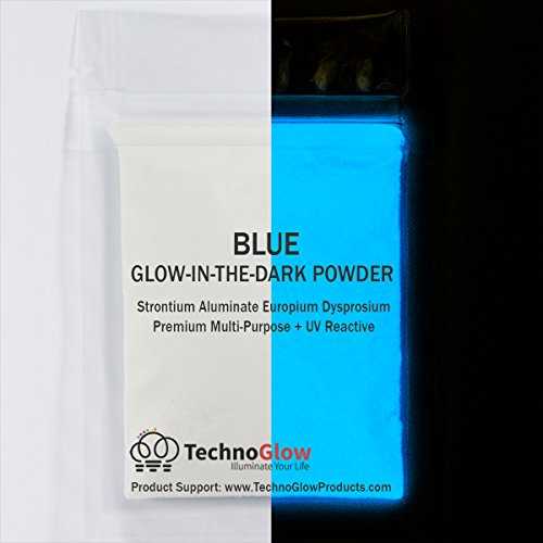Blue Glow in The Dark Powder, for Resin Epoxy Paint Acrylic Slime Glue | 30 Grams