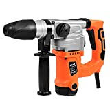 Goplus Electric Rotary Hammer Drill 1-1/2-Inch 1000W SDS Chisel Bits Demolition Kit w/Case