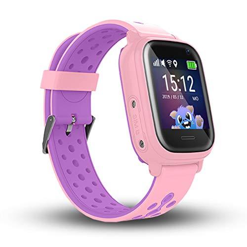 CALMEAN NEMO 2 Impermeable IP67 Reloj Inteligente Digital para Niños con Triple Seguimiento (GPS + LBS + WiFi) con App para iOS y Android Reloj Impermeable (Rosa)