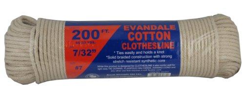 T.W Evans Cordage 43-077 7/32-Inch Evandale Cotton Clothesline 200-Feet Hank