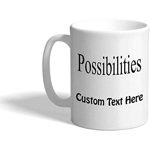 Taza de café personalizada 330 ml Posibilidades Inspiración Motivación Taza de té de cerámica Texto personalizado