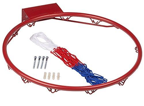 Basketballkorb Ring mit Netz Toll für draußen Basketball Hoop Ring 45,7cm Volle Größe