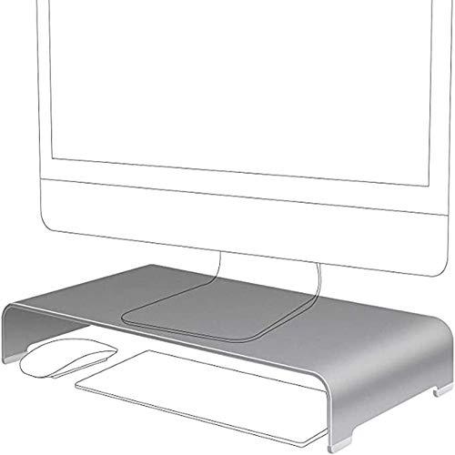 Cutfouwe Monitor Stand,Escritorio De Metal Universal De La Base del Soporte,Soporte De Aluminio del Monitor, Desk Organizer,Bureau Accessoires,De hasta 27 Pulgadas,42x22x6cm