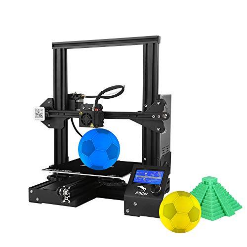Creality-3D Ender-3 Imprimante 3D DIY de Haute Précision S'auto-Assemblent 220 * 220 * 250mm Taille d'impression avec Fonction d'impression de Résumé