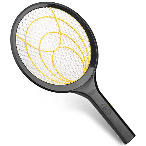 mafiti Electric Fly Swatter Racket, Bug Zapper Mosquito Fly Killer for Indoor Outdoor Pest Control (1, Yellow)