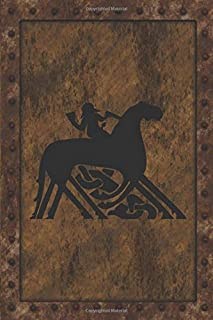 Odin Rides Sleipnir: Norse Mythology. God Odin Riding An 8 Legged Horse Called Sleipnir. Dot Grid Notebook.