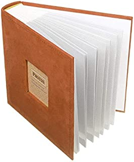 シンプルライフ、ライフアシスタント N55078 200 PCS写真用7インチ50ページベルベットフェイスアルバムインサートタイプアルバムストレージブック(オレンジ),場所:ゲスト、ベッドルーム、その他のデスクとカウンターがあります。 (色 :...