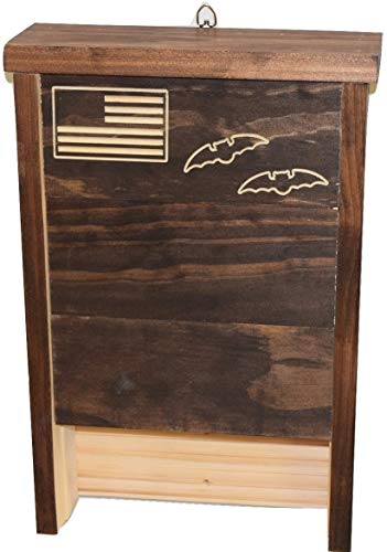 Premium Bat House   Made in USA   Pre-finished Select Pine   Ready to install   Ideal Bat Shelter for most U.S. climates   Environmentally Responsible Eco-Friendly Mosquito Control   Dark Pine