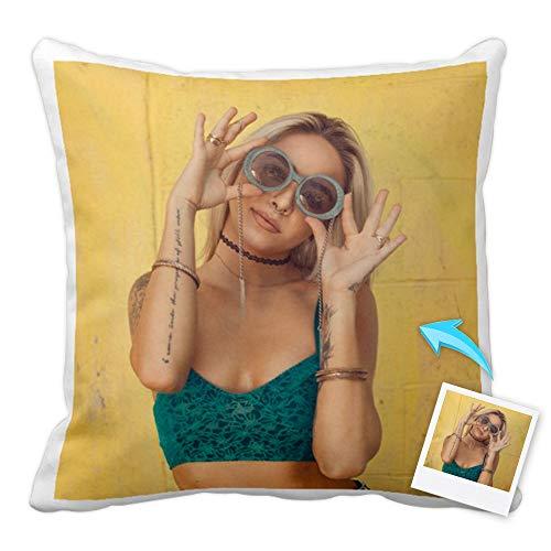 Cojines Personalizados con Fotos y Texto | Tejido Tacto algodón | Relleno Incluido | Tamaño 45x45 cm
