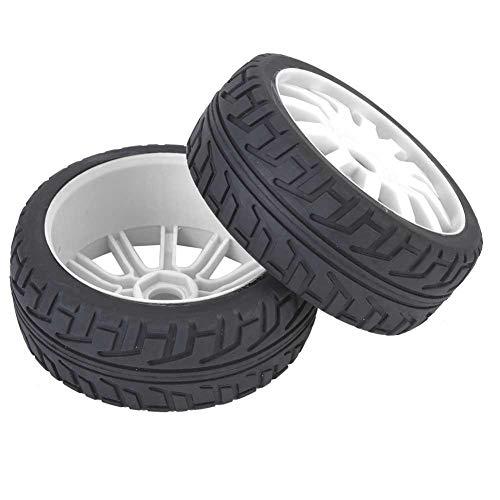 Dilwe RC Car Tires Hub, Material de Goma Pieza de Mejora par