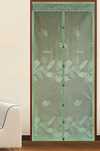 Sommer Anti-Moskito Tür Vorhang Sommer Verschlüsselung Stoff Jacquard Magnetbildschirm Bildschirm Bildschirm ohne Magnetstreifen Verschlüsselung Mesh Bildschirm Tür A5 B100xH210 zu tragen