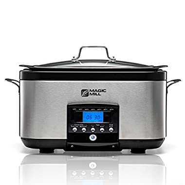 Magic Mill 5-In-1, 6-Quart Multi-Cooker, Slow Cooker, Brown/Sauté, Sear, with non-stick Inner pot