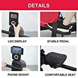 Rowing Machines Rudergerät Trac Glider Trainingsgeräte 8 Widerstandseinstellung mit LCD-Display 440 LB Gewicht Kapazität Faltbare for Home Gym - 2