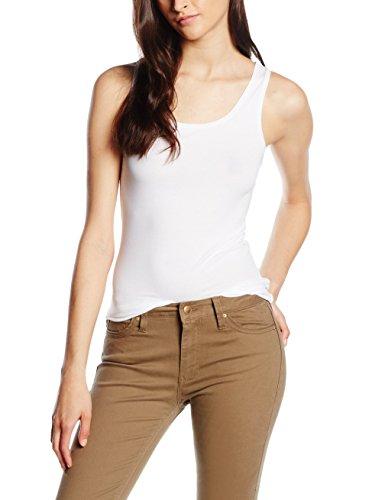 United Colors of Benetton Tank-Top Camiseta de Tirantes, Blanco (Bianco 101), Talla única (Talla del Fabricante: OS) para Mujer
