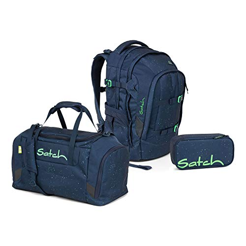 Satch Pack Schulrucksack Set 3tlg. (SchlamperBox und Sporttasche) (Pack Space Race)