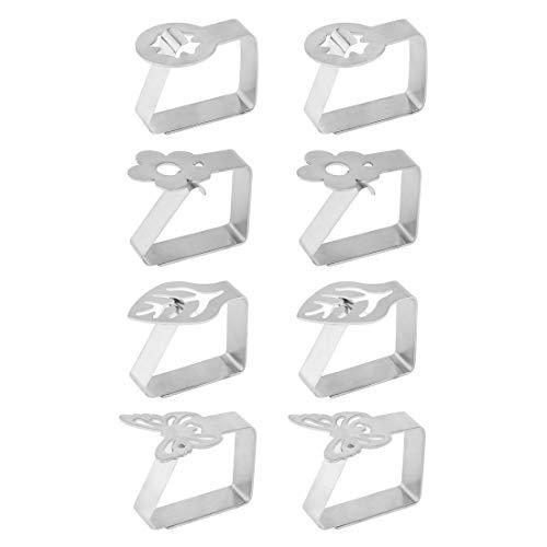 8 Paquetes de Clips de Mantel, SenPuSi Sujeta Manteles Clip Mantel Pinzas Mantel de Mantel de Tela Acero Inoxidable de Pinza para el Hogar, Fiestas, Picnics, Restaurante, Bodas, Buffets, Cenas