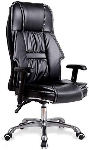 Noble Chair High Back Faux Leder Schreibtisch Chair Executive Computer Swivel Bürostuhl mit verstellbaren Handläufen und Kissen liefern