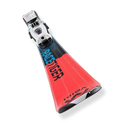 Voelkl Racetiger JR. + VMotion Kinder Skiset blau-rot - 100
