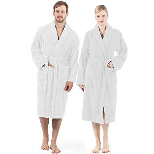 100% Cotton Terry Bathrobe,Spa Robe,Soft,Plush,Lightweight,Absorbent,Men,Women