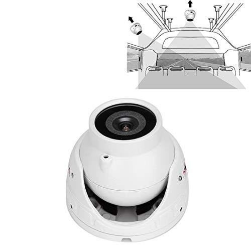 N / A Rückfahrkameras C178-AH10 6 LEDs CMOS AHD IR Überwachungs Dome Kamera-Auto-Ansicht-Kamera (Schwarz) (Color : White)