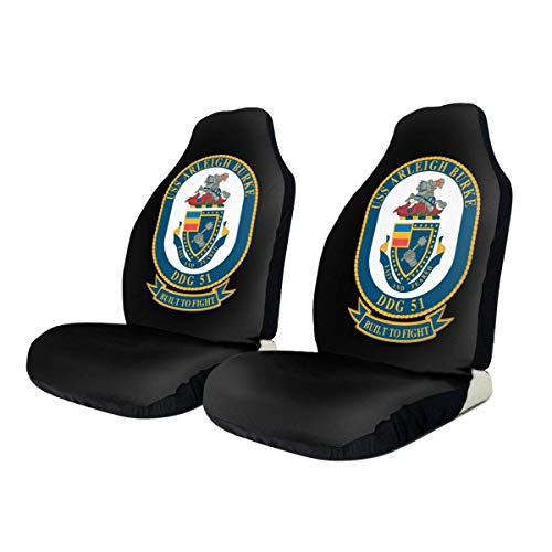 Navy USS Arleigh Burke Ddg-51 Universal Car Seat Cover Car Seat Covers Protector para automóvil Truck SUV Vehicle-2PCS