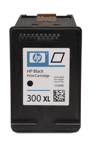HP 300XL Black Ink Cartridge Original Negro - Cartucho de tinta para impresoras (Original, Tinta a base de pigmentos, Negro, Impresión por inyección de tinta)