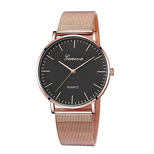 WYH Reloj de Pulsera Nuevo Reloj de cinturón de Malla Ultra Delgada Reloj de Hombre Cronógrafo de Cuarzo de Moda Relojes de Pulsera Moda Moda Popular Reloj Exterior Comercio Exterior Ultra Fino