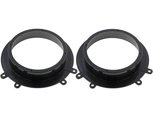 2 Entretoises Haut-Parleur EN526 165mm noir compatible avec Citroen Expert Jumpy Scudo avant