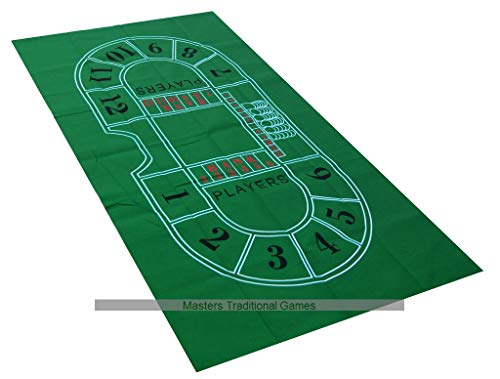 Masters Traditional Games Baccarat / Punto Banco Table Cloth / Felt Layout (180 x 90cm)