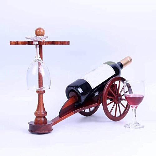 CMMT Marco de Vintage Racks de Vino de Caoba Suave Peach Blossom Proceso de Talla de Madera Regalos privados para Uso Personal