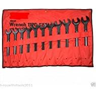 11 PC METRIC LARGE BIG JUMBO SIZE COMBINATION TOOL WRENCH SET WITH POUCH