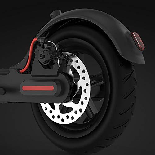 Neumático de scooter eléctrico, espesor trasero Tubos interiores Capacidad de tampón de caucho y aleación Made instalación fácil (Negro)