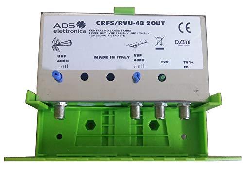 CENTRALINO DA PALO 2 USCITE 48 dB UHF !! il piu' potente ! AMPLIFICATORE ANTENNA