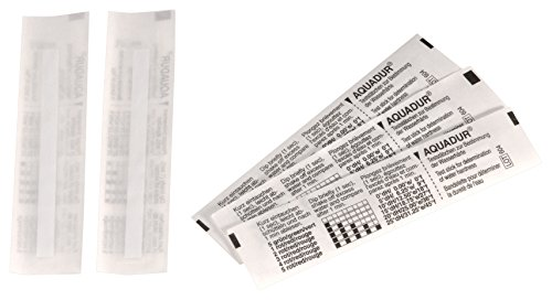 Comap S900671 Test TH de dureté de l'eau en languettes, Blanc