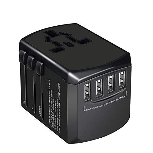 Jessicadaphne Convertidor de Enchufe multifunción Global Travel Abroad Adaptador convertidor de Enchufe de Carga USB Universal