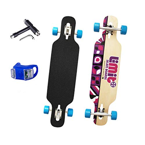 36 'Skateboard de longboard Complete 7 capas Tableros de arce canadienses Doble patadas Concave Concave Patinetas para talla Downhill Cruising Freestyle Paseos, principiantes Chicas niños Niño peng