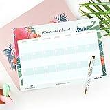Planificador Mensual Perpetuo Tropical - 32 x 23 cm - Takenote Agendas (verde)