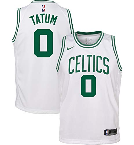 Nike Jayson Tatum Boston Celtics NBA Boys Youth 8-20 White Association Edition Swingman Jersey (Youth Large 14-16)
