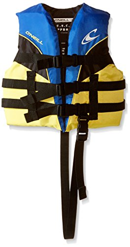 O'Neill Child Superlite USCG Life Vest,Pacific/Yellow/Black/Yellow,30-50 lbs