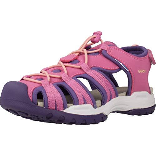 Geox Mädchen J Borealis Girl B Geschlossene Sandalen, Pink (Fuchsia/Violet C8370), 25 EU