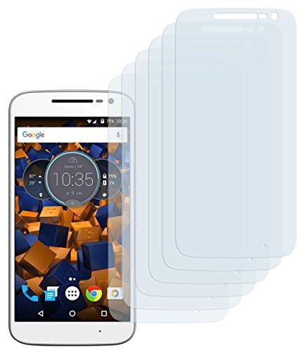 mumbi Schutzfolie kompatibel mit Lenovo Moto G4 Play Folie klar, Bildschirmschutzfolie (6X)