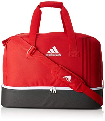 adidas Unisex Tiro Teambag mit Bodenfach M, Rot (Escarl/Negro/Blanco), 25 Centimeters