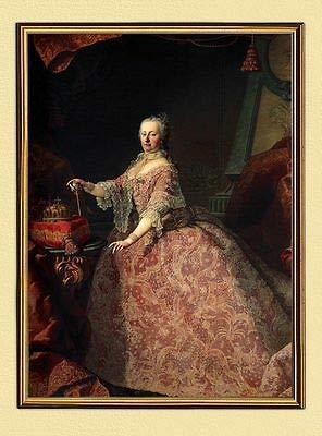 Kunstdruck Kaiserin Maria Theresia Österreich Königin Ungarn Böhmen K&K LW A2 122