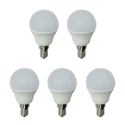 Wonderlamp W-B000063 Lot de 5 ampoules LED lumière neutre Culot fin E14 Blanc 470 lm 4000 K 6 W