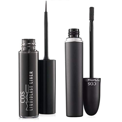 cosmac Professional Waterproof Eyeliner With Mascara Eye Care Combo (Set Of 2)