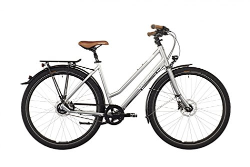 Corratec C29er Trekking One Alfine 11s Lady chrome silver matt/white/brown Rahmengröße 51 cm 2016 Trekkingrad