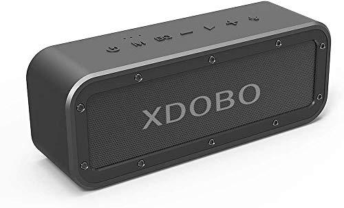 XDOBO Altoparlante wireless portatile 40W Bluetooth 5.0 Impermeabile IPX7 Antipolvere 15 ore di riproduzione TWS Driver doppio Altoparlanti potenti per bar all'aperto da casa Spiaggia Doccia
