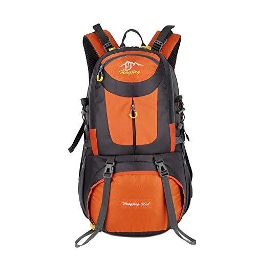 CXJC Sac à Dos De Randonnée Pédestre Nylon Water Resistang Randonnée Camping Travel Alpinisme pour Les Voyages Trekking Voyage Sac à Dos,Orange-40L