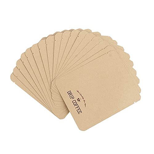 AVEE Heiß! 50pcs Flache Unterseite Kraft Paper Open Top-Tasche Teepulver Coffee Zip-Verschluss-Beutel Papiergeschenk-Hochzeits-Tasche Heißsiegelvakuumbeutel